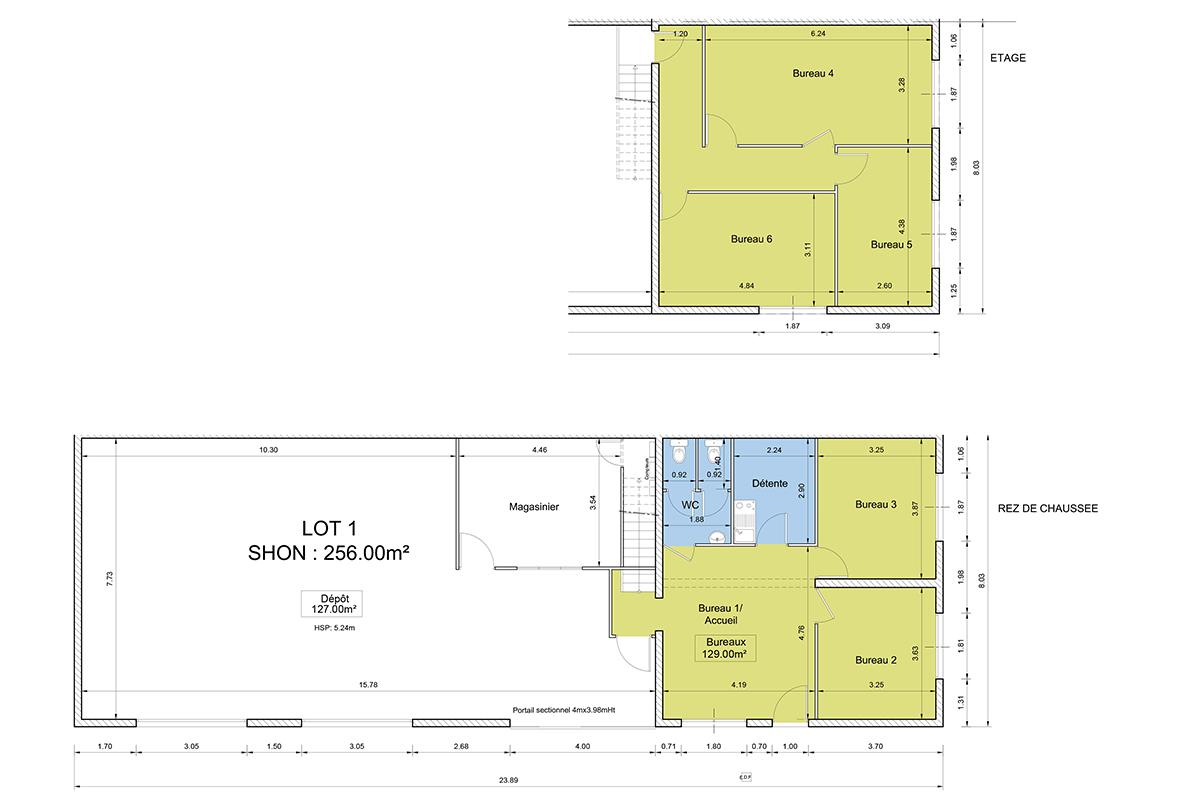 Plan des bureaux
